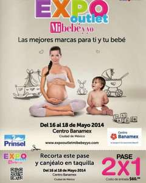Cupón de 2x1 para Expo Outlet Mi bebé y yo (DF)