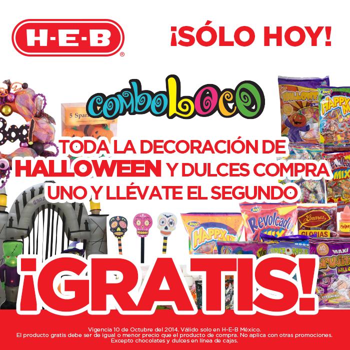 HEB: 2x1 en decoración y dulces de Halloween