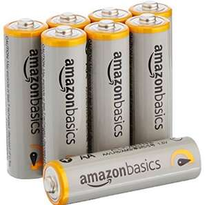 Amazon: 8 pilas AA alto rendimiento marca Amazon basics