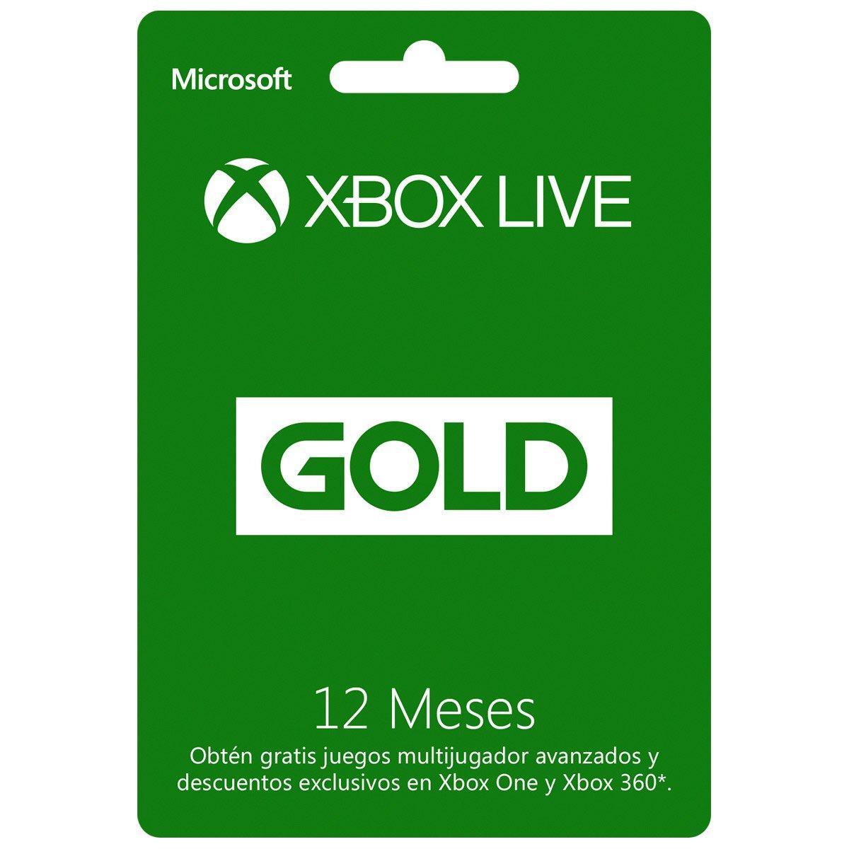 Sears: Tarjeta Xbox Live Gold 12 Meses a solo $499