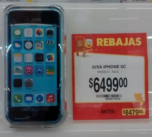 iPhone 5C desde $6,499 en Walmart, Apple Store y Liverpool