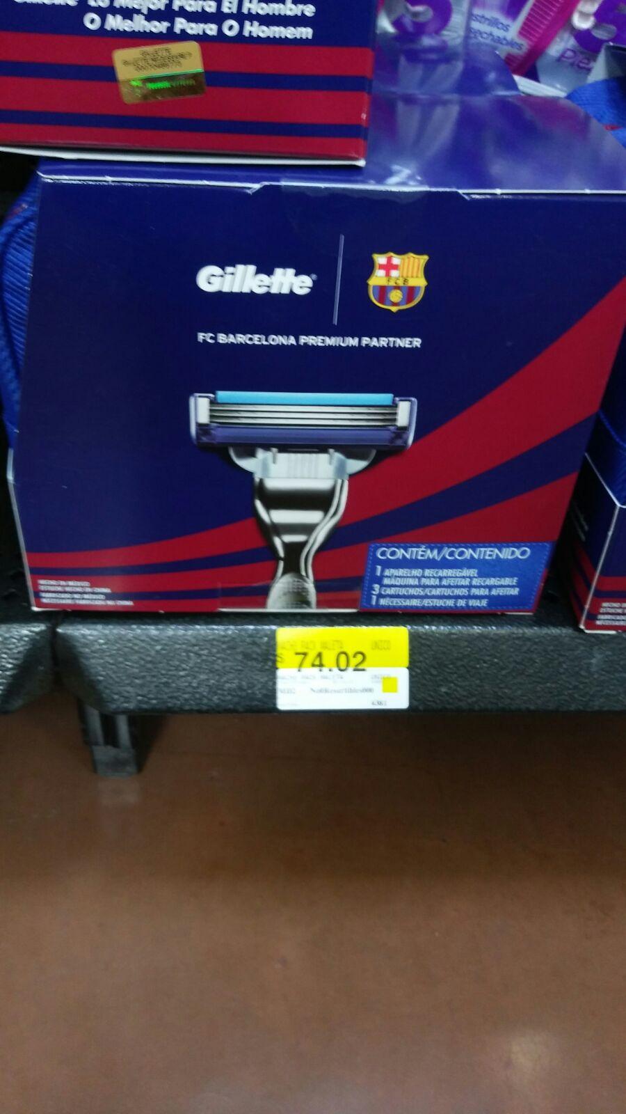 Walmart: Estuche Barcelona con rastrillos incluye máquina y 3 Cartuchos de $199 a $74.02 pesugos