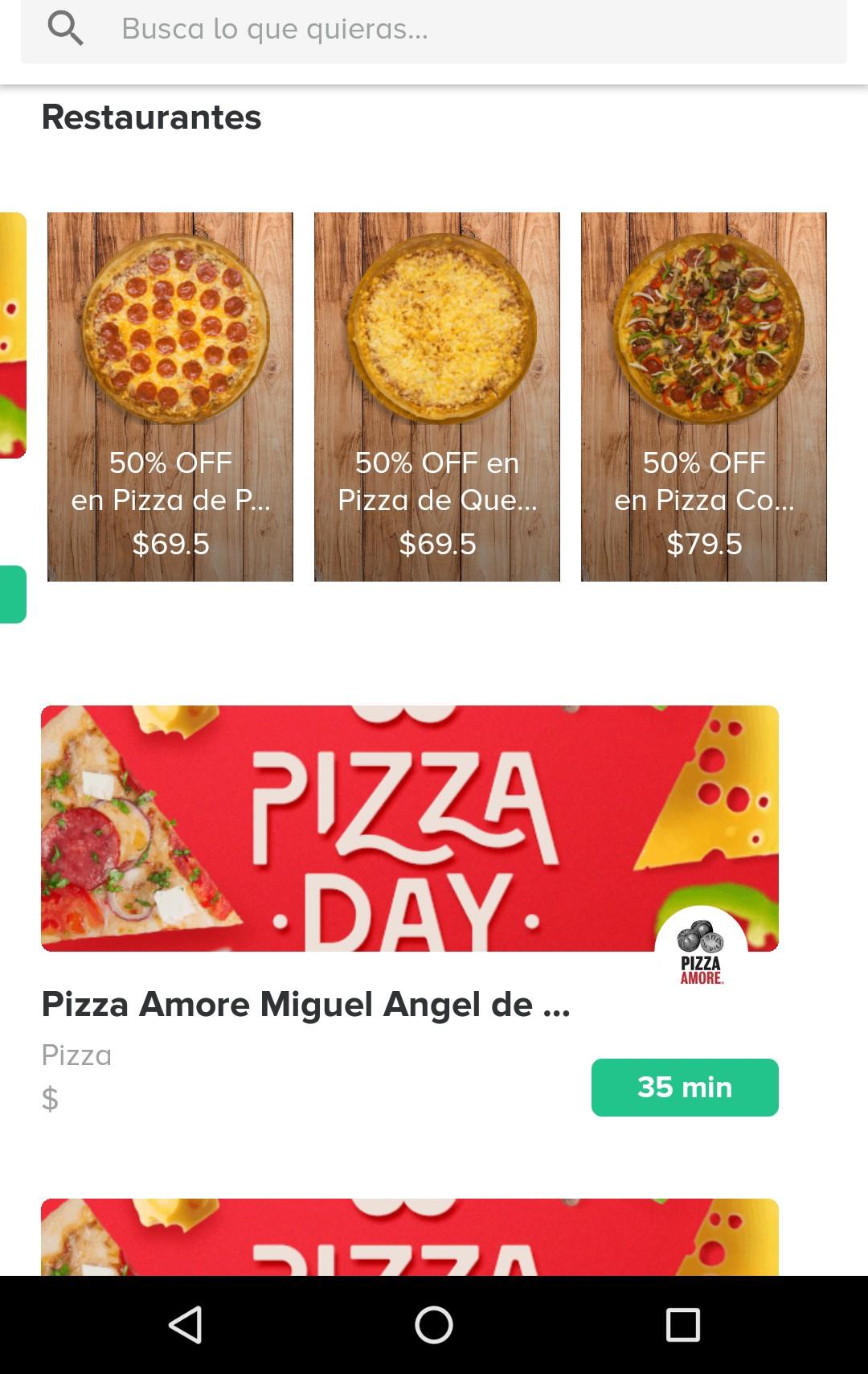 Rappi: Pizza day en rappi!, descuentos en sección Restaurantes/Pizzas