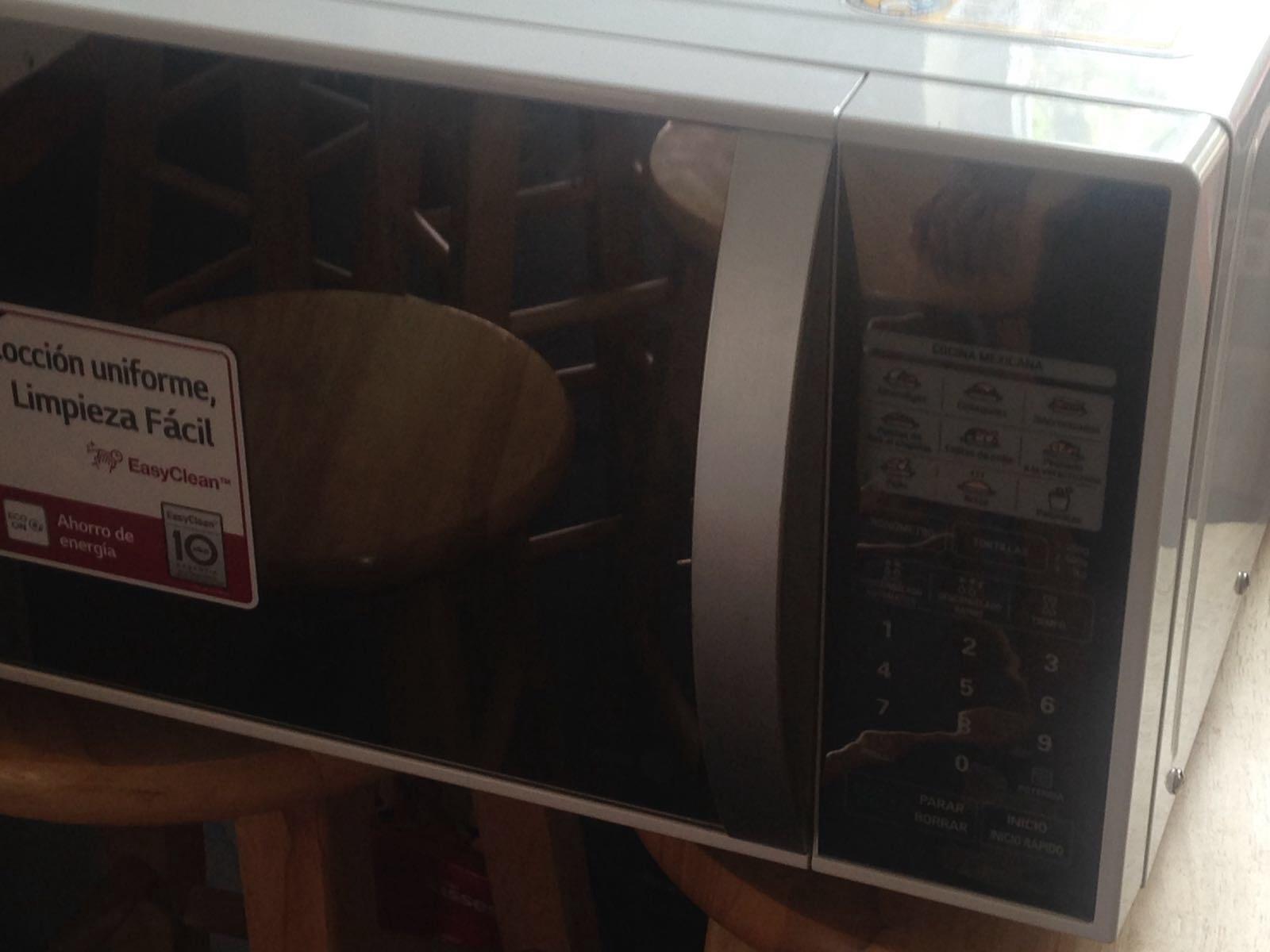 Walmart Patio Texcoco: horno de microondas LG a $490.03
