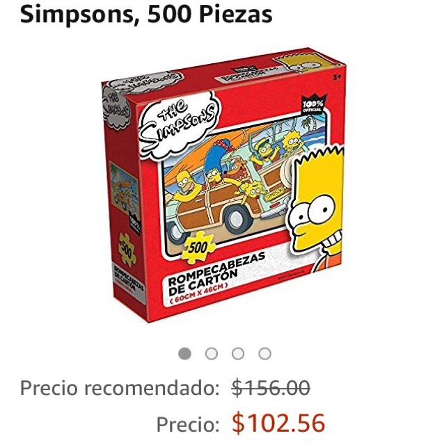 Amazon: Rompecabezas Los Simpson 500pz,envio gratis PRIME