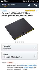 Amazon: 60% de descuento Tapete Corsair MM200 Chico 20cm
