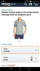 Amazon: Camisa Dakota Grizzly