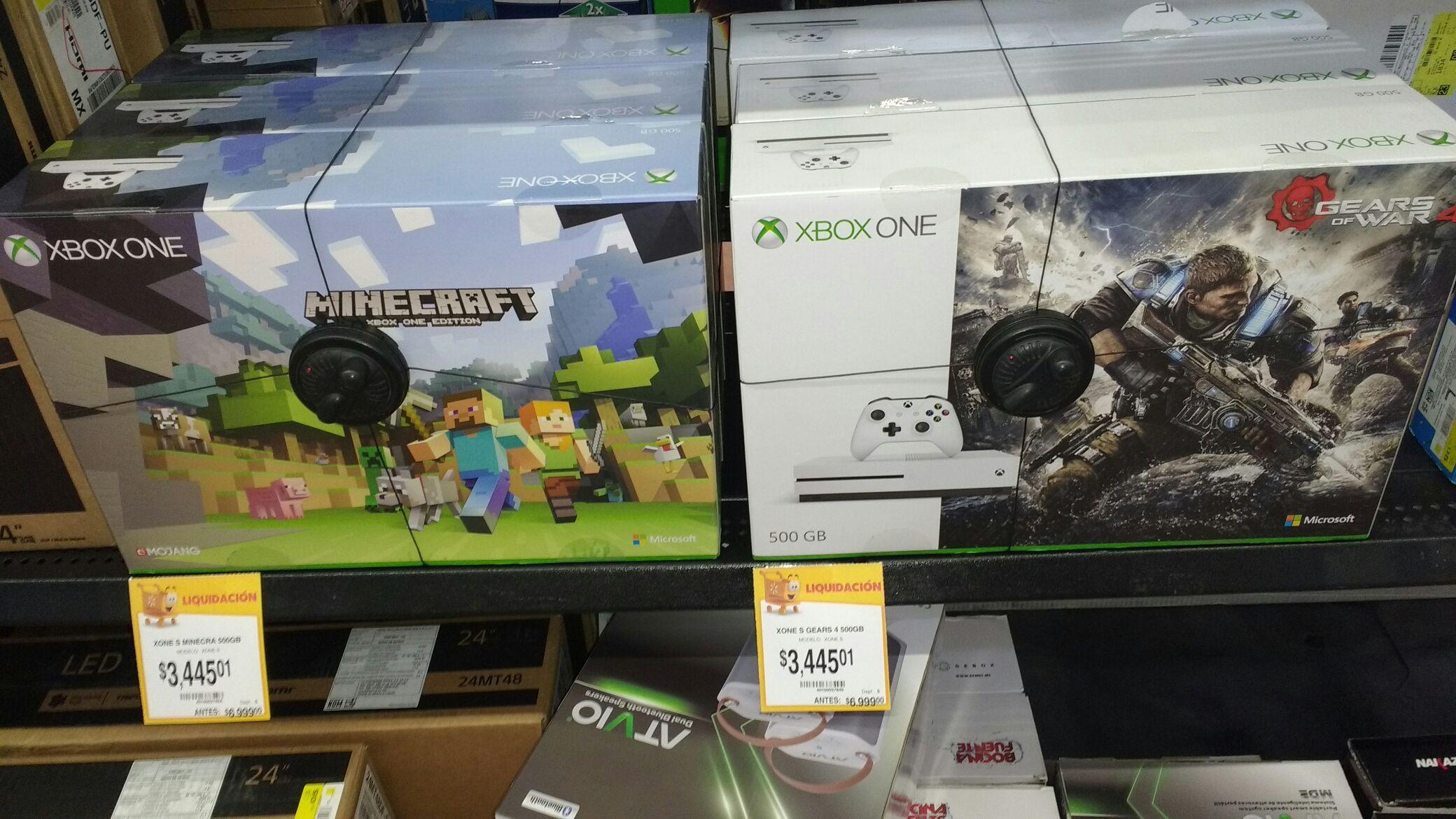 Walmart Izcalli: XBOX ONE S Bundle Gears of war o Minecraft