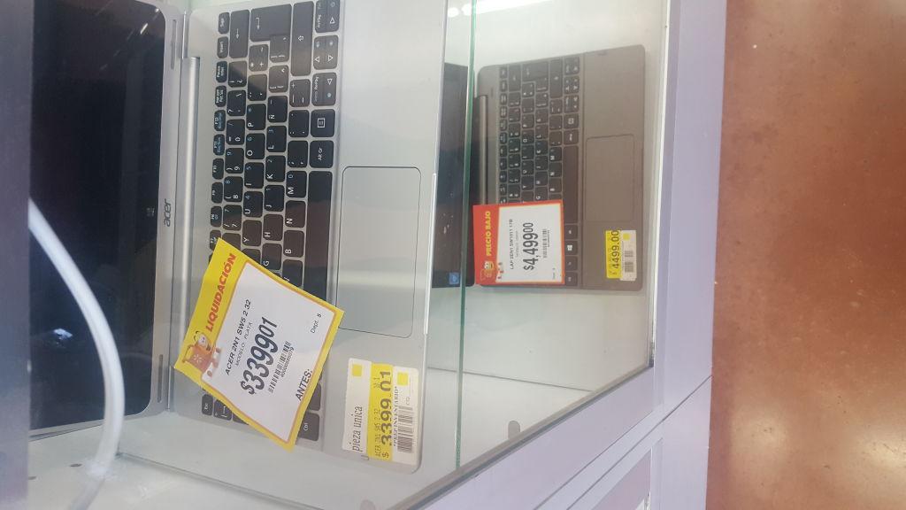 Walmart San Nicolas (mty): Laptop Acer SW5-012-13NE  y más