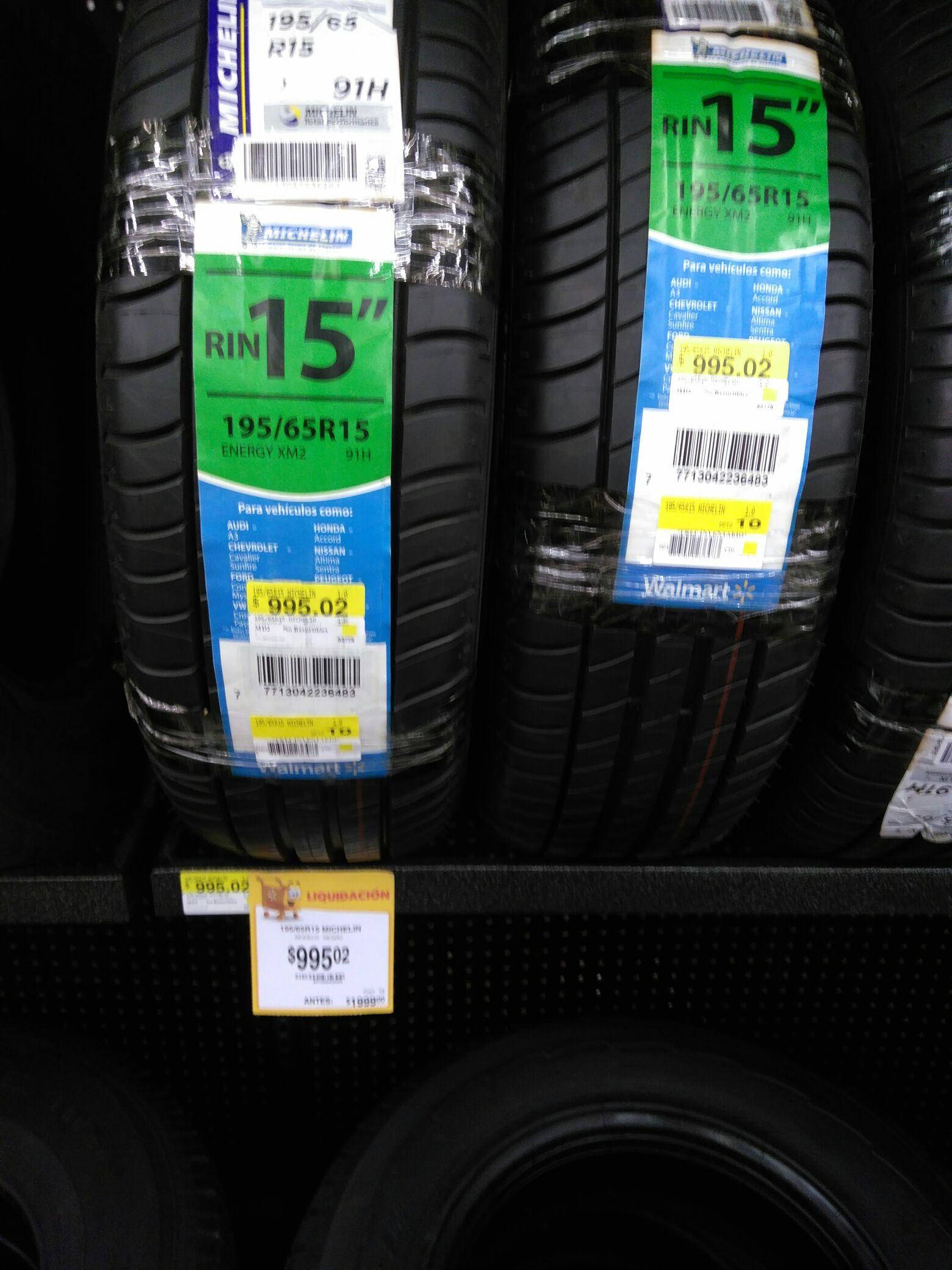 Walmart: Llanta michelin 195 65 15