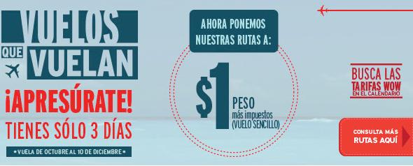 Vivaverobus: vuelos desde $1.00 más impuestos