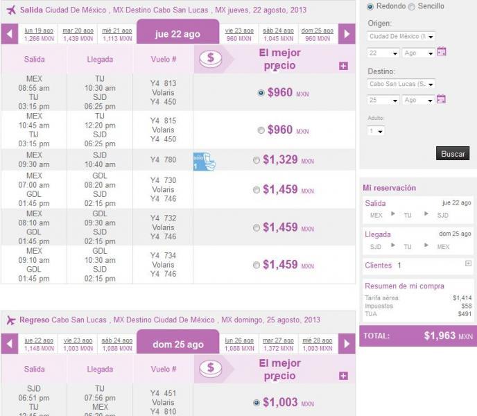 Volaris: vuelos nacionales desde $699 y a USA desde $129 dólares