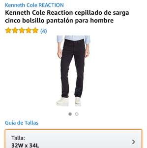 Amazon: Bonito pantalón, Kenneth Cole Reaction cepillado de sarga cinco bolsillo