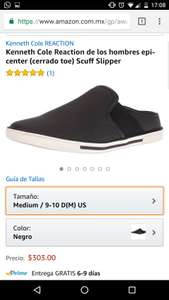 Amazon: Kenneth Cole Reaction de los hombres epi-center(cerrado toe) Scuff Slipper