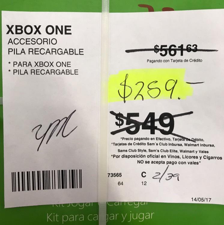 Sams: Kit carga y juega Xbox one de 549 a $259