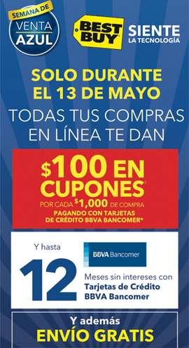 Bestbuy.com.mx: $100 en cupones x cada $1,000 de compra con Bancomer