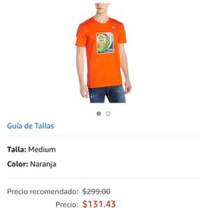 Amazon: Playera adidas mediana (sub 17 creo)