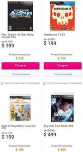 Liverpool: The Last of Us $399, GOW Ascension con control $639, Resistance 3 $159 y +