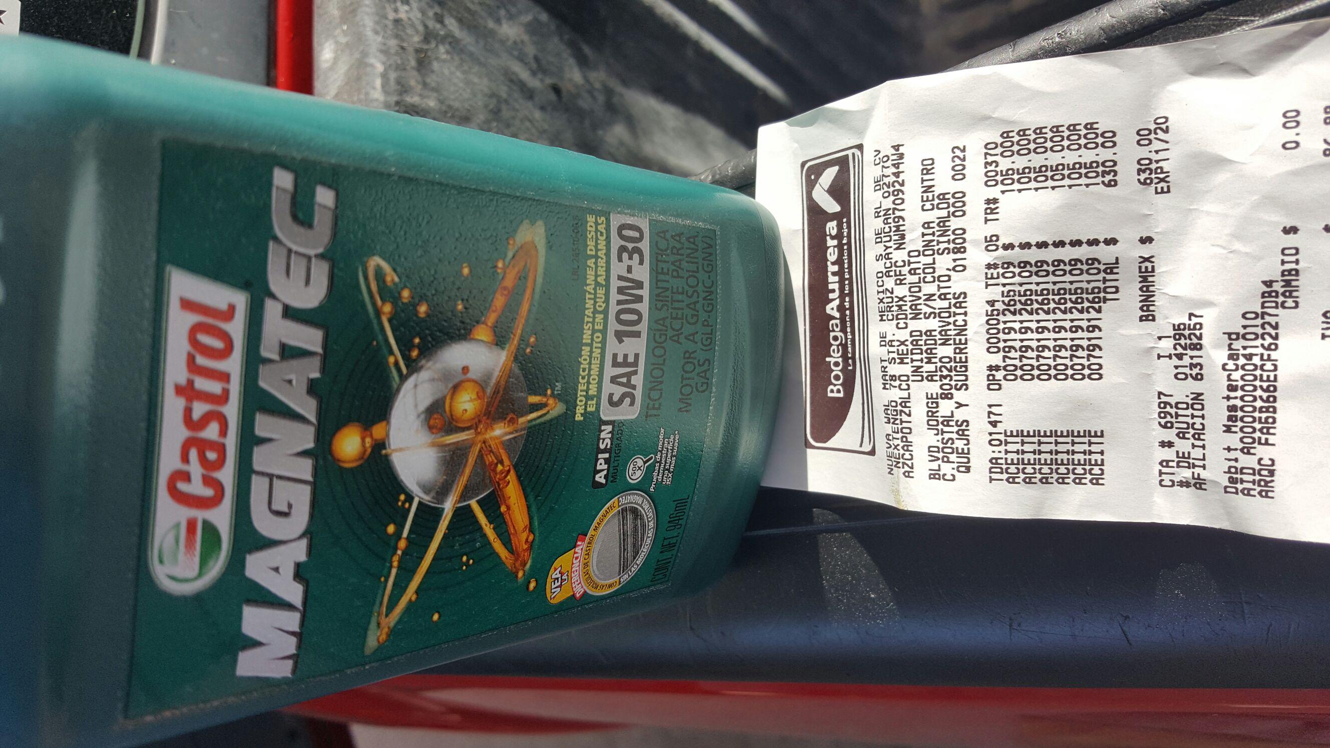 Bodega Aurrerá: Aceite Castrol 10w-30 Sintetico