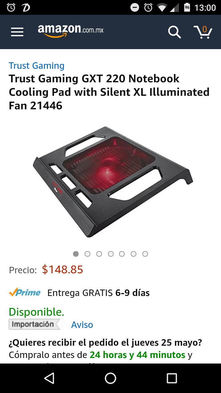 Amazon: Base con ventilador para laptop Trust Gaming