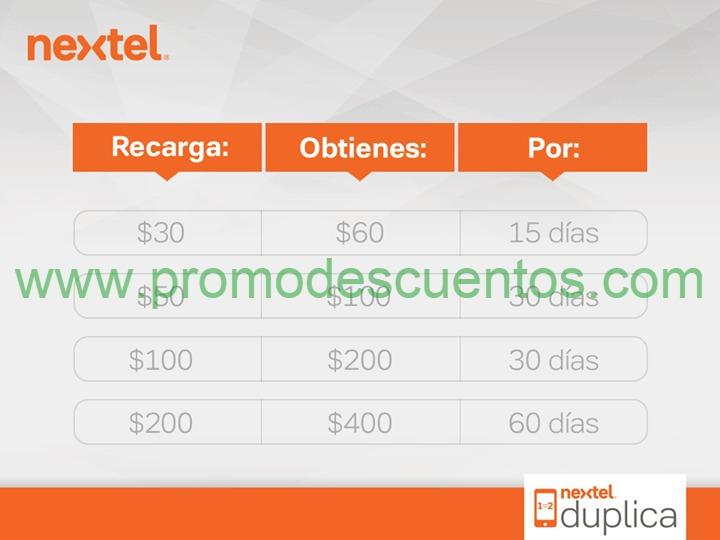 Nextel: doble de recarga sólo hoy