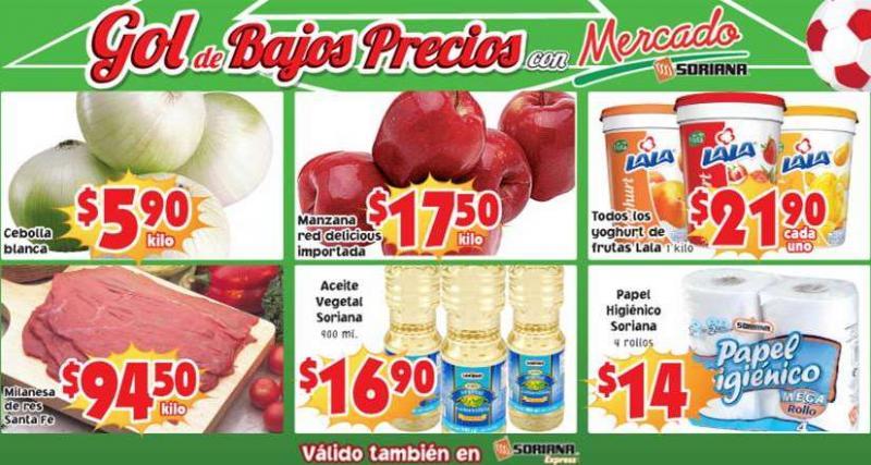 Ofertas de frutas y verduras en Soriana 13 y 14 de mayo