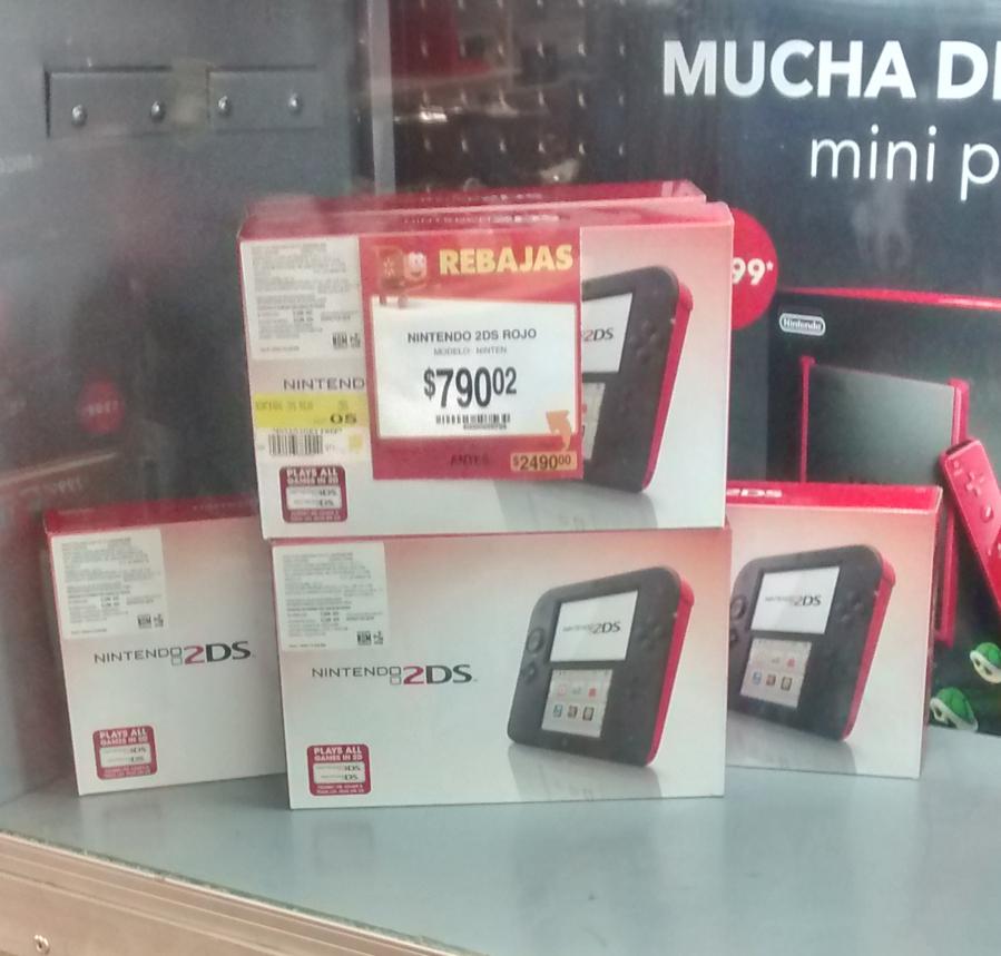 Walmart: Nintendo 2DS rojo $790.02