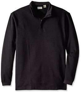 Amazon: Sweater marca Haggar color Negro (Carbon) tallas grandes