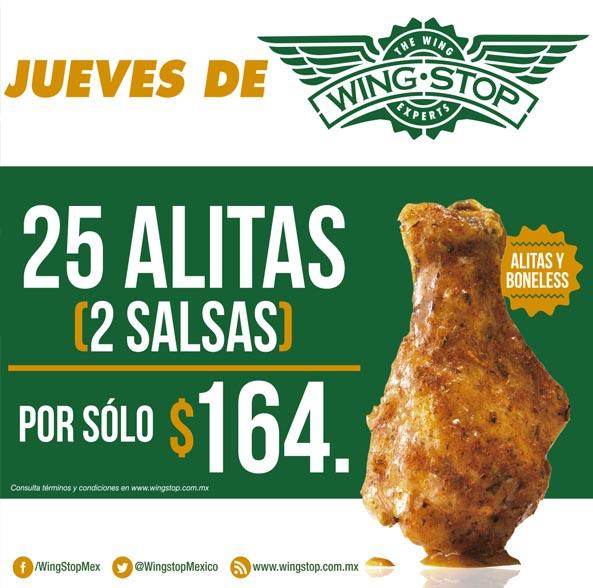 Wings Stop: Jueves de alitas, 25 alitas por $164