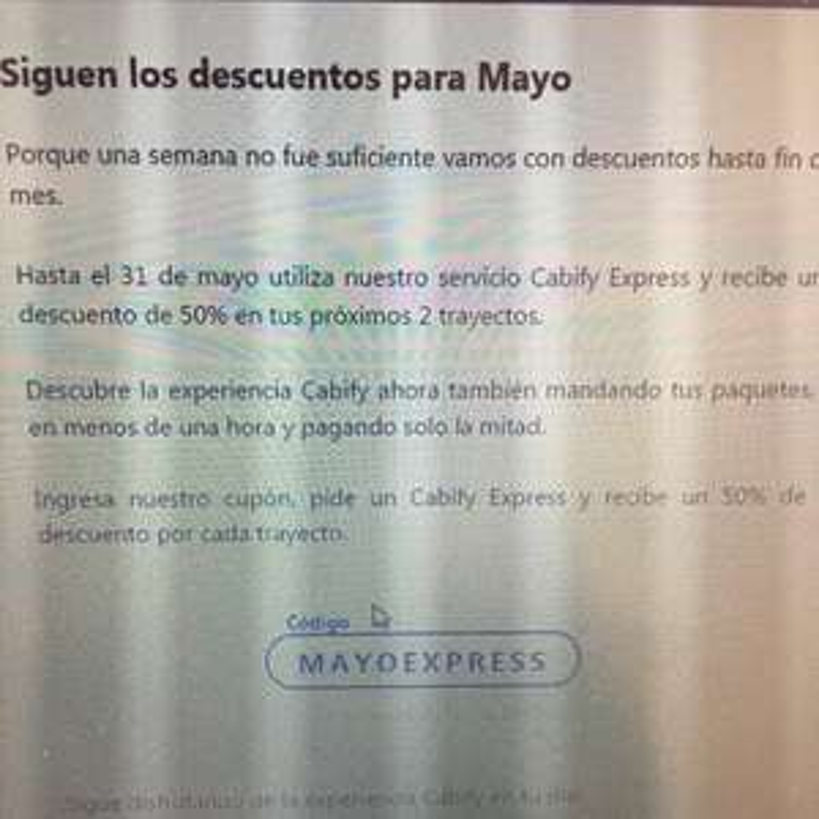 Cabify Mensajería CDMX: 50% en tus próximos 2 trayectos