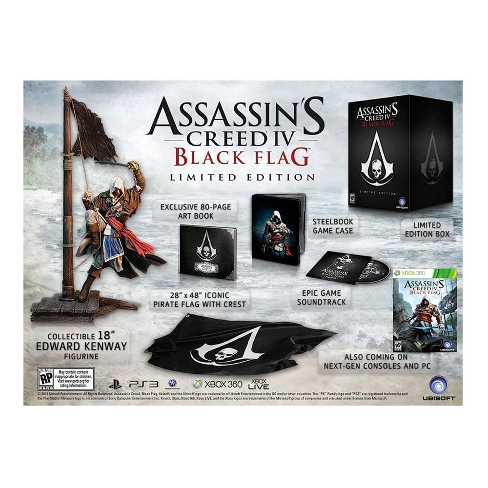 Walmart online: Videojuego assasins creed iv black flag edición limitada para Xbox 360