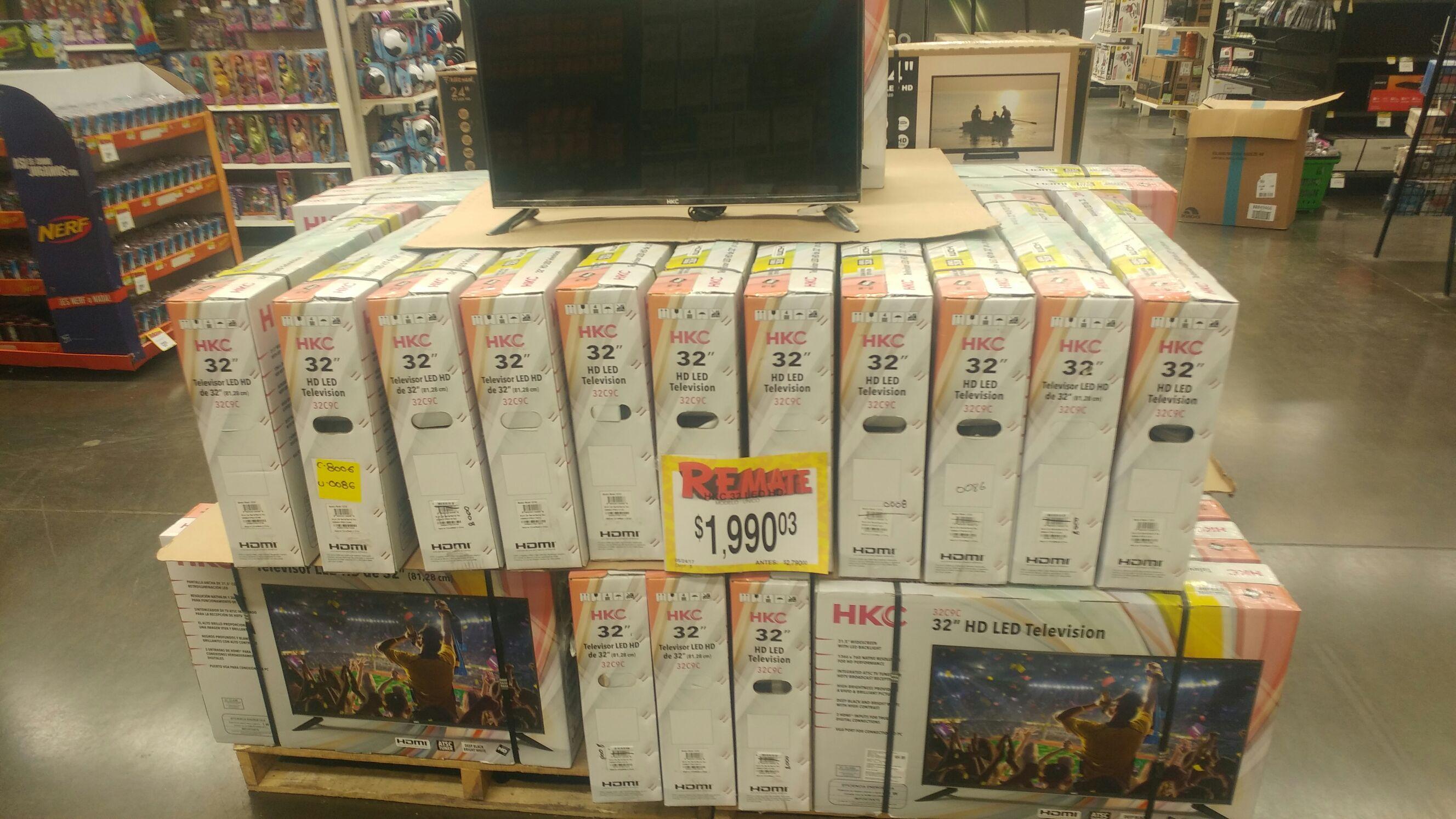 Bodega Aurrerá: television HKC 32 LED a $1,990.03