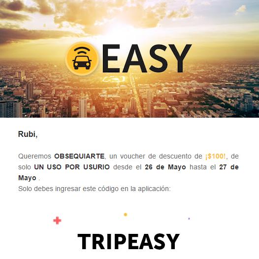 Easy Taxi: $100 de descuento para usuarios existentes
