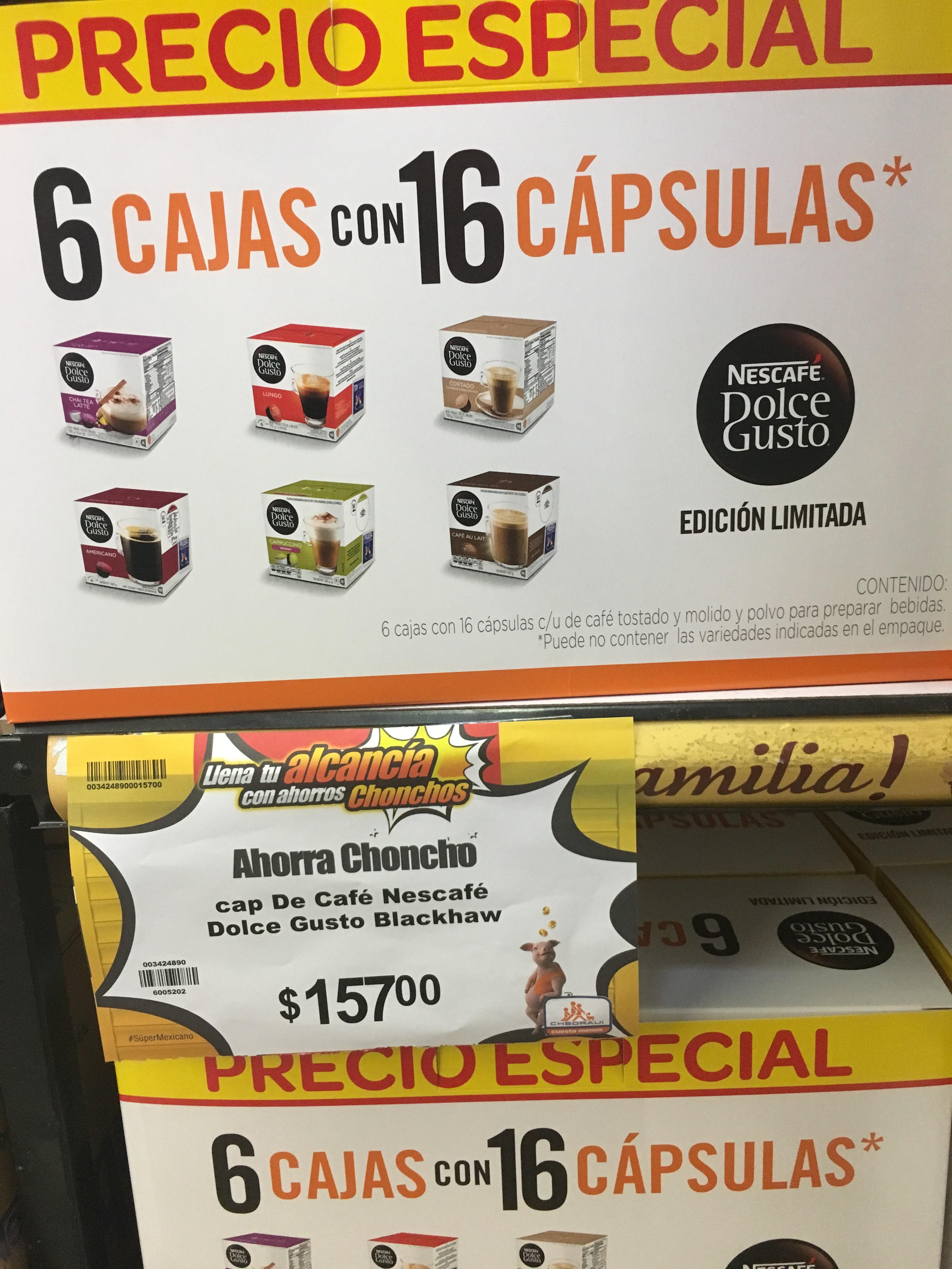 Chedraui aluminio Veracruz (nuevo Veracruz): cajas cápsulas  Dolce Gusto