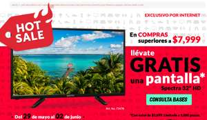Office Depot Hot Sale 2017: En compras superiores a $7999 GRATIS TV Spectra 32plgds. y más...