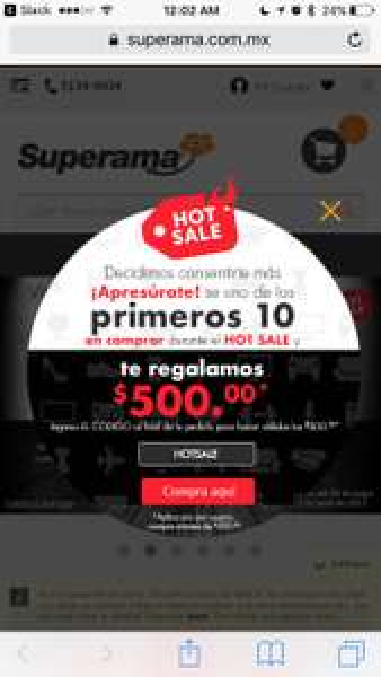Cupon Hot Sale Superama