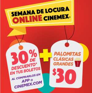 Hot Sale 2017 en Cinemex: 30% de descuento en boletos