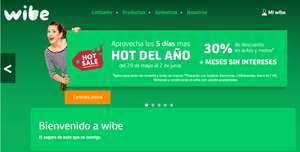 Hot Sale 2017 en Wibe: Seguro Auto 30% descto + 3,6,9 o 12 msi