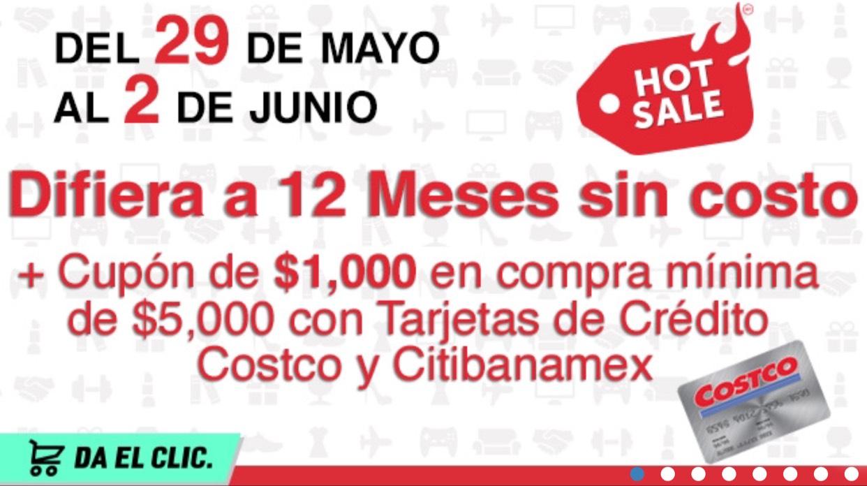 Hot Sale 2017 en Costco: Cupón de $1,000 en compras mínimas de $5,000 con tarjetas CitiBanamex y Costco