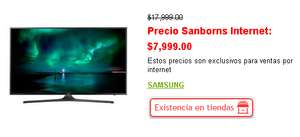 "Hot Sale Sanborns y Claroshop UN43KU6000FXZX Samsung 43"" UHD 4K Flat Smart TV KU6000 Series 6 en $7999"