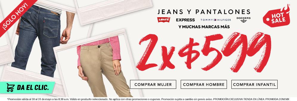 Hoy Sale 2017 Promoda Outlet: Pantalones seleccionados 2x$599