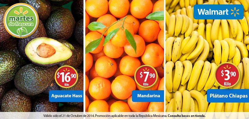 Martes de frescura en Walmart octubre 21: plátano $4 el kilo y más