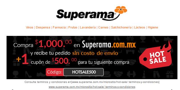 Hot Sale 2017 en Superama: cashback de $500 en compras de $1,000 ó más