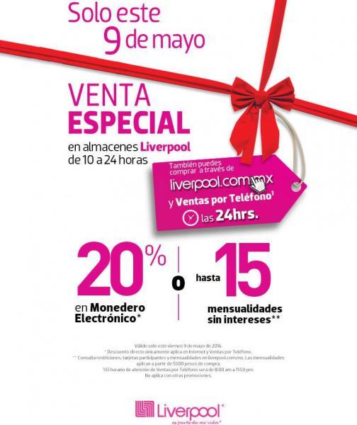 Liverpool y Fábricas de Francia: venta especial 9 de mayo