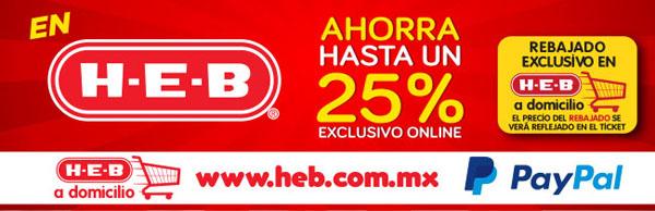 HEB: hasta 25% de descuento en tienda online