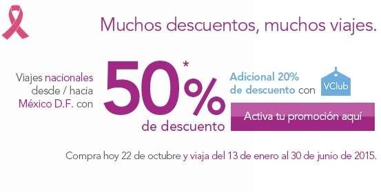 Volaris: 50% de descuento en viajes desde y hacia México D.F.
