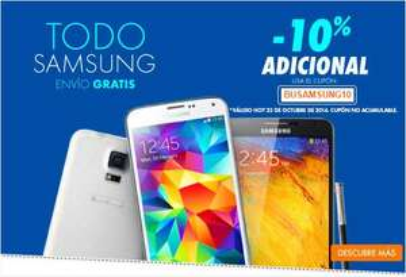 Linio: 10% de descuento en Samsung