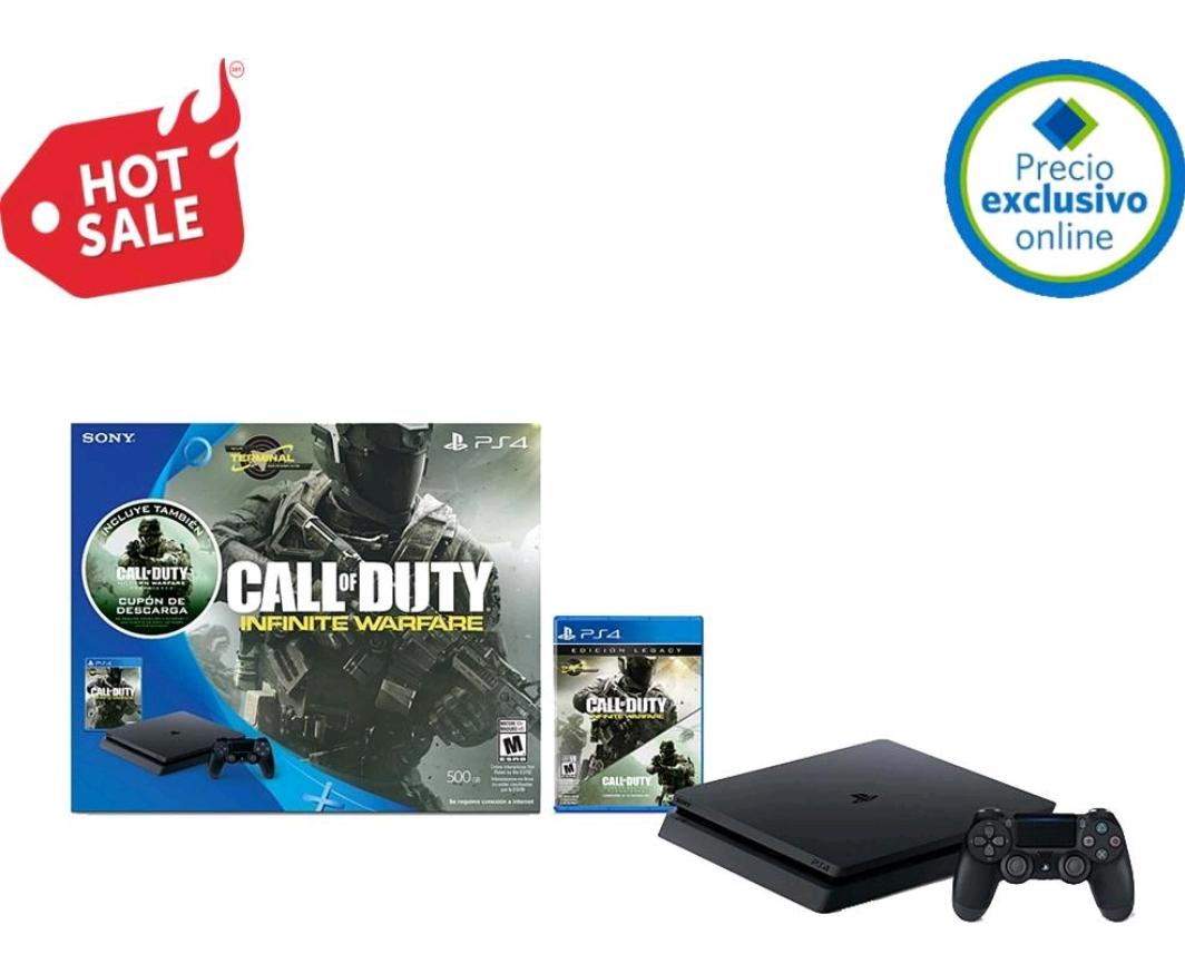 Hot Sale 2017 en Sam's Club: Consola PS4 500 GB Call of Duty infinite Warfare pagando con Inbursa