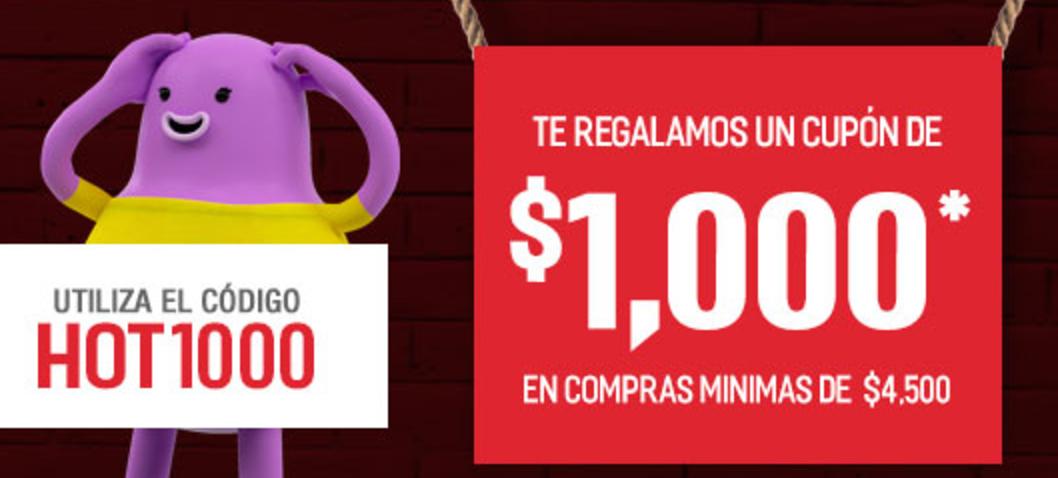 Hot Sale 2017 Soriana: Cupón de $1,000 en compras de $4,500