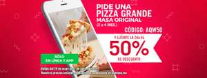 Domino's Pizza: segunda pizza al 50% (2 a 4 ingredentes)